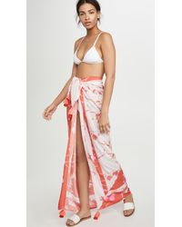 Maaji House Of Flowers Pareo Cover Up - Red