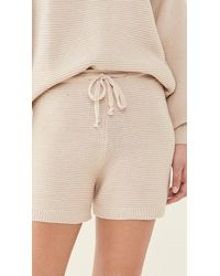 Onzie Cozy Knit Shorts - Natural