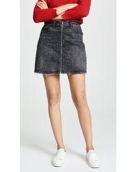 PAIGE - Aideen Denim Mini Skirt In Myra - Lyst