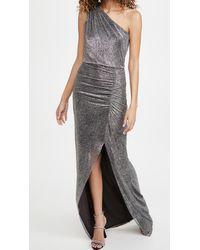 Halston Helen Metallic Knit Gown - Multicolour
