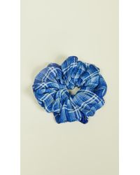 Chan Luu Plaid Scrunchie - Blue