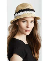 Kate Spade - Crochet Bicolor Bow Trilby Hat - Lyst