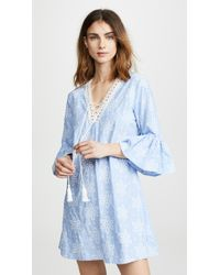 Shoshanna - Tossed Daisy Embroidery Dress - Lyst