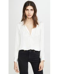 Zadig & Voltaire Tink Satin Blouse - White