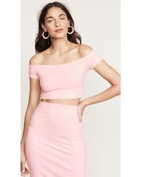 Susana Monaco - Off Shoulder Crop Top - Lyst