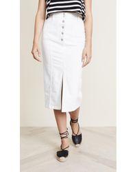 Madewell - White High Slit Jean Skirt - Lyst
