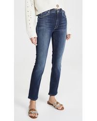 Mother The Mid Rise Dazzler Jeans - Blue