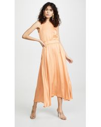 Forte Forte Back Neckline Dress - Orange