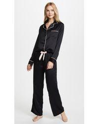 Bluebella Claudia Shirt And Pant Set - Black