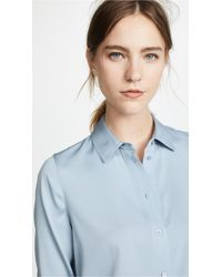 Vince - Slim Fitted Blouse - Lyst