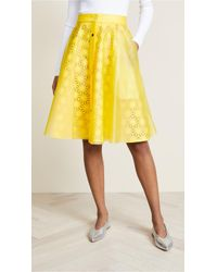 Paskal - Laser Cut Skirt With Vinyl Slip - Lyst