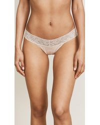 Hanky Panky - Cotton With A Conscience Petite Low Rise Thong - Black - Lyst