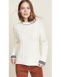 Rag & Bone - Brighton Aran Sweater - Lyst
