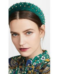 Lele Sadoughi Studded Padded Headband - Green