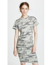 Monrow - Camo Shirred Dress - Lyst