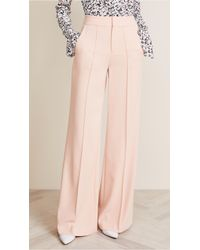 Alice + Olivia Dylan High Waisted Leg Pants - Pink