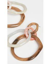 Lele Sadoughi Oversized Organic Banded Hoops - Multicolour