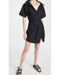 T By Alexander Wang Button Down Shirtdress - Black