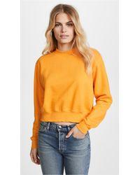 Cotton Citizen - The Milan Cropped Sweatshirt - Lyst