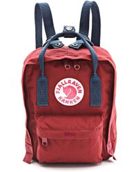 Fjallraven Kanken Mini Backpack - Red