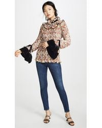Tory Burch Pleated Ruffle Blouse - Multicolor