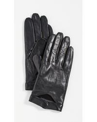 Mackage Leather Gloves With Snap At Wrist - Black