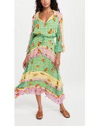 FARM Rio Mixed Picnic Maxi Dress - Green
