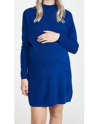 HATCH The Belen Jumper Dress - Blue