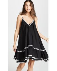 9seed Daisy Embroidered St Tropez Dress - Black