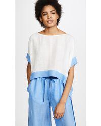 Diane von Furstenberg - Short Sleeve Linen Shirt - Lyst
