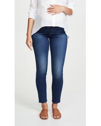 7 For All Mankind The Ankle Skinny Maternity Jeans - Blue