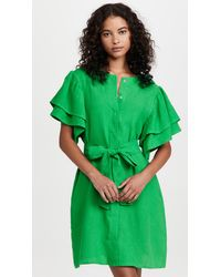 FANM MON Green Mini Dress