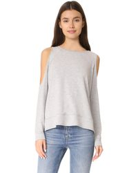 Cupcakes And Cashmere | Mariam Cold Shoulder Sweatshirt | Lyst