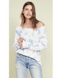 525 America Tie Dye Shaker Sweater - Blue