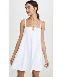 Susana Monaco Flared V-wire Tank Dress - White
