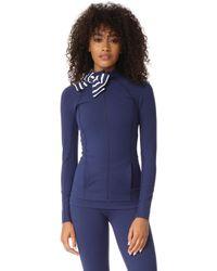 Beyond Yoga - X Kate Spade New York Sailing Stripe Neck Bow Jacket - Lyst