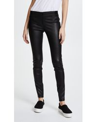 Alice + Olivia - Zip Front Leather Leggings - Lyst