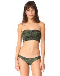Baja East - Wrap Bandeau Bikini Top - Lyst