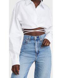 Lioness Hideaway Crop Shirt - White