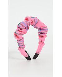 Tanya Taylor Ruched Headband - Pink