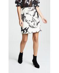Adam Lippes - Printed Wool Mini Skirt - Lyst