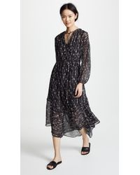 Vince - Brushstroke Shirred Dress - Lyst