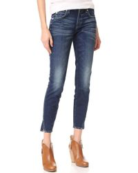 AMO - Twist Skinny Ankle Jeans - Lyst