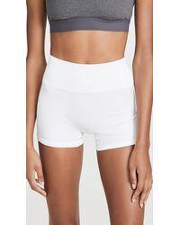 Tory Sport High-rise Seamless Shorts - White