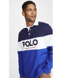 Polo Ralph Lauren Fleece Logo Rugby Shirt - Blue