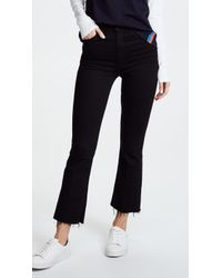 Mother The Hustler Ankle Fray Jeans - Multicolour