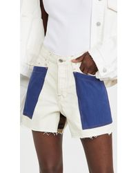 Tre by Natalie Ratabesi The Callisto Cropped Jean Shorts - Blue