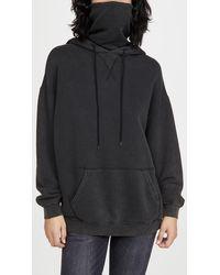 R13 #maskup Vintage Fleece Hoodie - Black