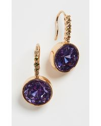 Kate Spade - Pave Round Drop Earrings - Lyst