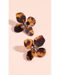 Shashi - Tortoise Flower Earrings - Lyst